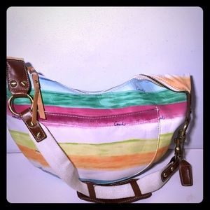 Coach Purse Hampton's Multicolored Hobo bag